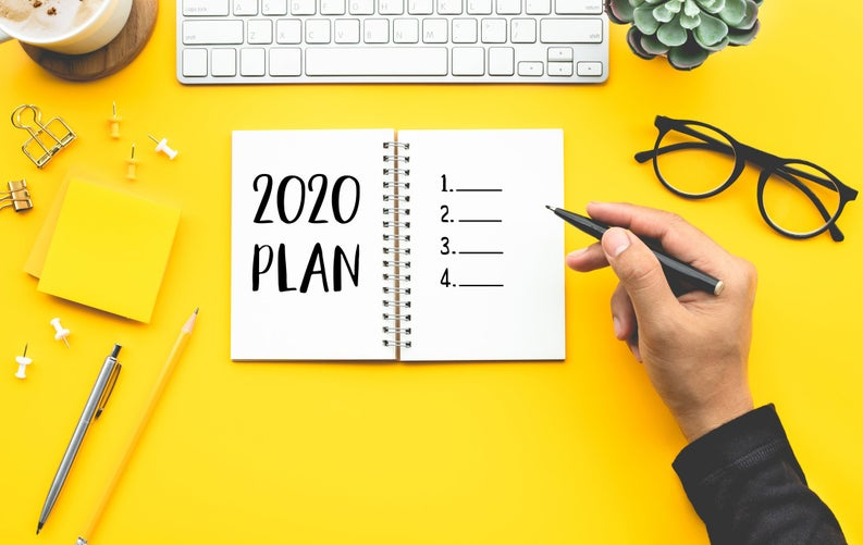 Picture of a 2020 planner